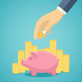 Money saving concept in flat style design. Stock Photography