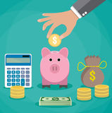 Money saving concept. Royalty Free Stock Images