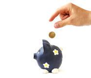 Money saving. Saving money for the future Stock Image