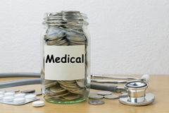 Money saving for Medical Royalty Free Stock Photos