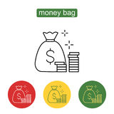 Money saving and money bag icon design. stock illustration