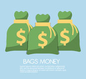 Money saving and money bag icon design, vector illustration. Money savings concept with icon design, vector illustration 10 eps graphic Royalty Free Stock Image