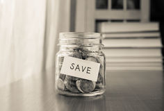 Money saving plan Royalty Free Stock Photo