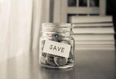 Money saving plan Royalty Free Stock Photo