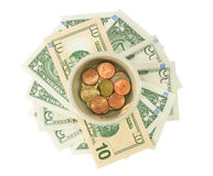 Money saving for retirement Royalty Free Stock Photo