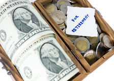 Money saving for retirement. Isolated Stock Photography