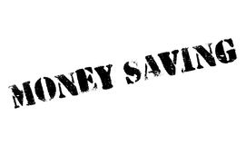 Money Saving rubber stamp. Grunge design with dust scratches. Effects can be easily removed for a clean, crisp look. Color is easily changed Stock Images