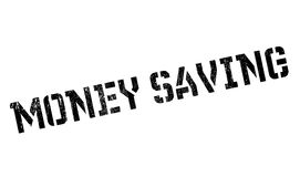 Money Saving rubber stamp. Grunge design with dust scratches. Effects can be easily removed for a clean, crisp look. Color is easily changed Stock Photography