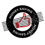 Money Saving rubber stamp. Grunge design with dust scratches. Effects can be easily removed for a clean, crisp look. Color is easily changed Royalty Free Stock Photography