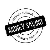 Money Saving rubber stamp. Grunge design with dust scratches. Effects can be easily removed for a clean, crisp look. Color is easily changed Stock Photos