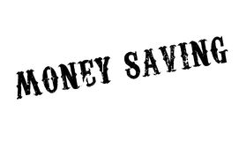 Money Saving rubber stamp. Grunge design with dust scratches. Effects can be easily removed for a clean, crisp look. Color is easily changed Royalty Free Stock Images