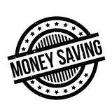Money Saving rubber stamp. Grunge design with dust scratches. Effects can be easily removed for a clean, crisp look. Color is easily changed Stock Photo
