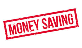 Money Saving rubber stamp Royalty Free Stock Images