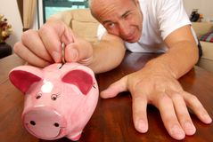 Money Saving Technique royalty free stock photo