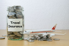 Money saving for travel Insurance Royalty Free Stock Photography
