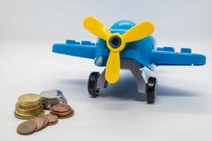 Money saving for travel Stock Photo