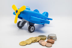 Money saving for travel Royalty Free Stock Images