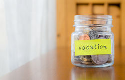 Money saving for travel and vacation Royalty Free Stock Photos