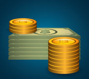 Money savings and business design Stock Photos