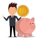 Money savings and business design Stock Photo