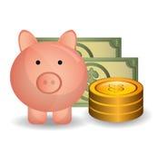 Money savings and business design Stock Image