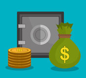 Money savings and business design Stock Photography