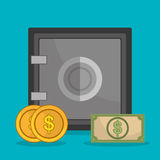 Money savings and business design Stock Images