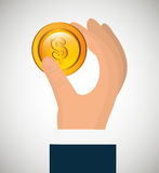 Money savings and business design Royalty Free Stock Photo