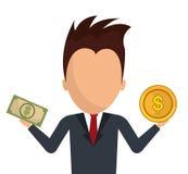 Money savings and business design Royalty Free Stock Photos