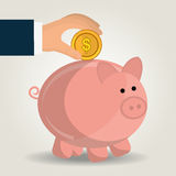 Money savings and business design Royalty Free Stock Images