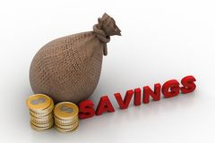 Money savings concept Stock Photos