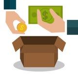 Money savings graphic Royalty Free Stock Photos
