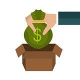 Money savings graphic Royalty Free Stock Image
