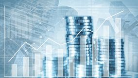 Money and savings growth stock footage