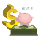 Money savings and investments Royalty Free Stock Photo