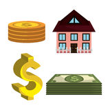Money savings and investments Stock Images