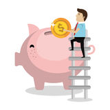 Money savings and investments Stock Photos