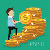 Money savings and investments Stock Image