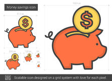 Money savings line icon. Stock Images