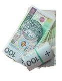 Money and savings. Stack of 100's polish zloty banknotes Royalty Free Stock Photography
