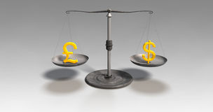 Money scales Stock Image