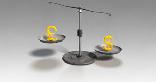 Money scales Stock Photo