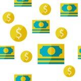 Money seamless background Royalty Free Stock Photos