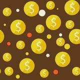 Money seamless background Stock Images
