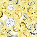 Money Seamless Pattern_eps. Illustration of money seamless pattern with yellow background Royalty Free Stock Image