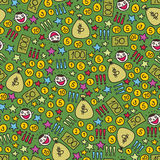 Money seamless pattern. Stock Images