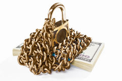 Money and security concept Royalty Free Stock Image