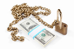 Money and security concept Royalty Free Stock Photos