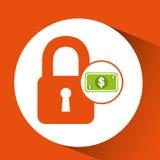 Money security concept padlock design icon Stock Photography