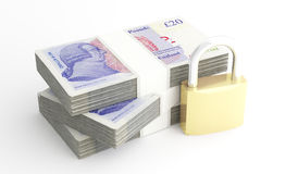 Money and security. Royalty Free Stock Photos